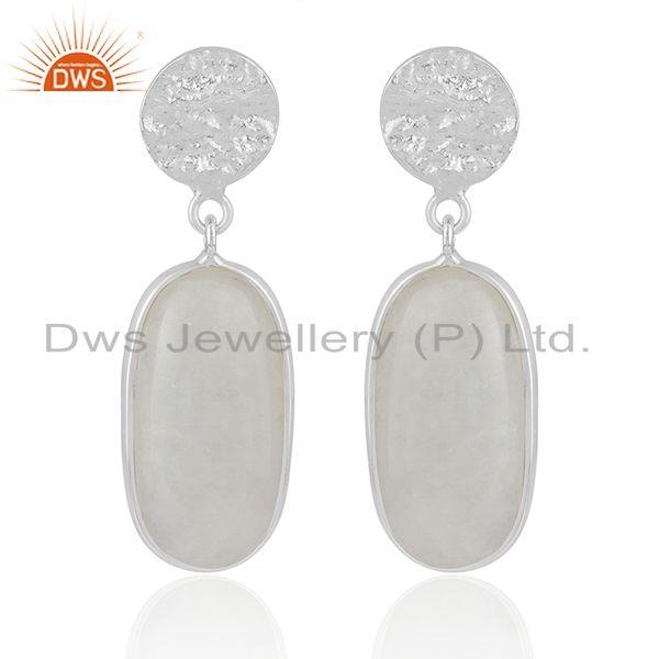 Handmade Fine Sterling Silver Rainbow Moonstone Earrings Wholesaler