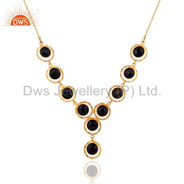 Handmade Designer Gold Plated 925 Sterling Silver Gemstone Necklace