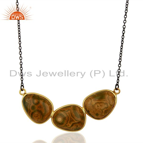 Ocean Jasper Gemstone 925 Sterling Silver Womens Necklaces Supplier
