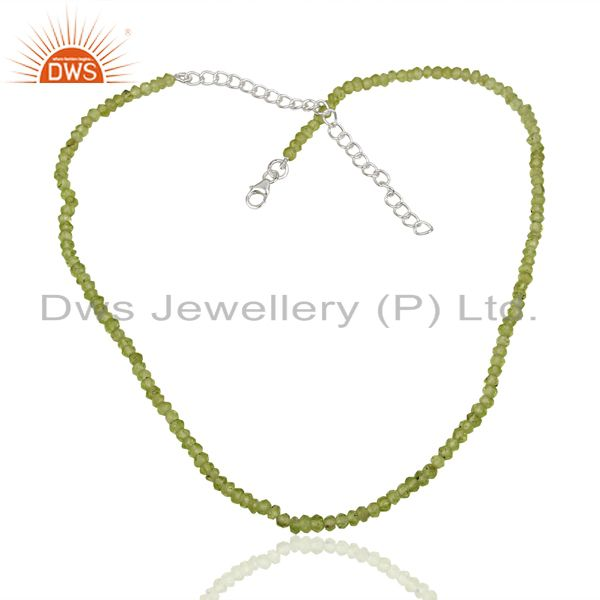 Peridot Gemstone Sterling Silver Necklace Jewelry Manufacturer