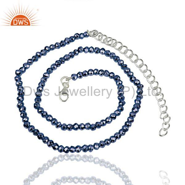 Tanzanite Pyrite Gemstone Wholesale Fine Silver Chain Necklace Jewelry