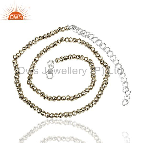 Silver Pyrite Gemstone 925 Silver Fashion Necklace Supplier Jewelry