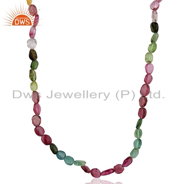 Pink Tourmaline Gemstone Silver Necklace Jewelry Manufacturer Supplier