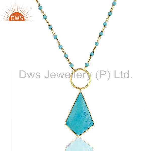 Turquoise Designer Rosary Chain Wholesale Pendent Chain Jewelry