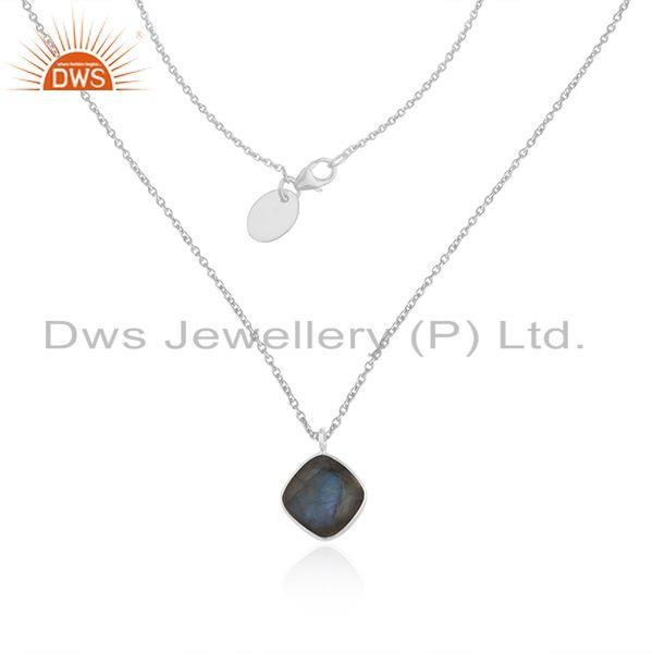Labradorite Gemstone Fine Sterling Silver Chain Pendant Wholesale form India