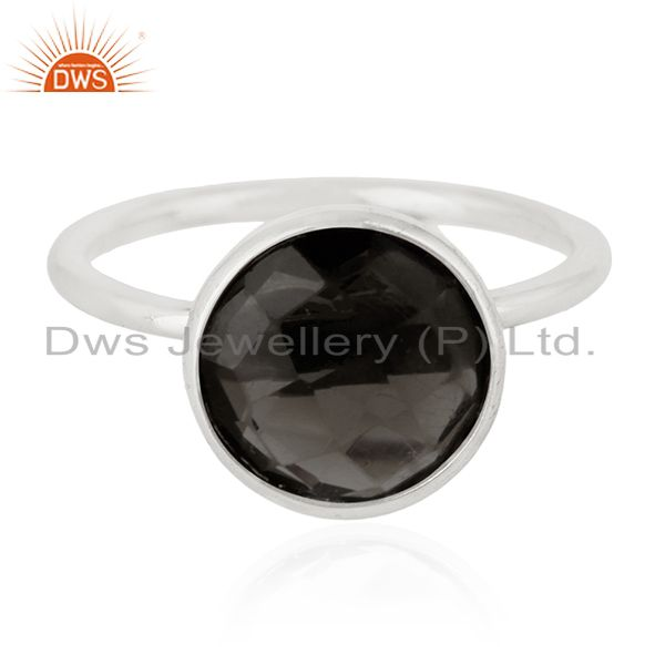 925 Sterling Silver Handmade Designer Gemstone Ring Jewelry Supplier for Brands