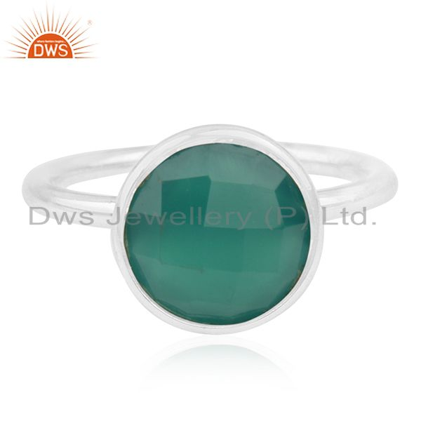 Green Onyx Gemstone 925 Sterling Silver Ring Wholesale Suppliers