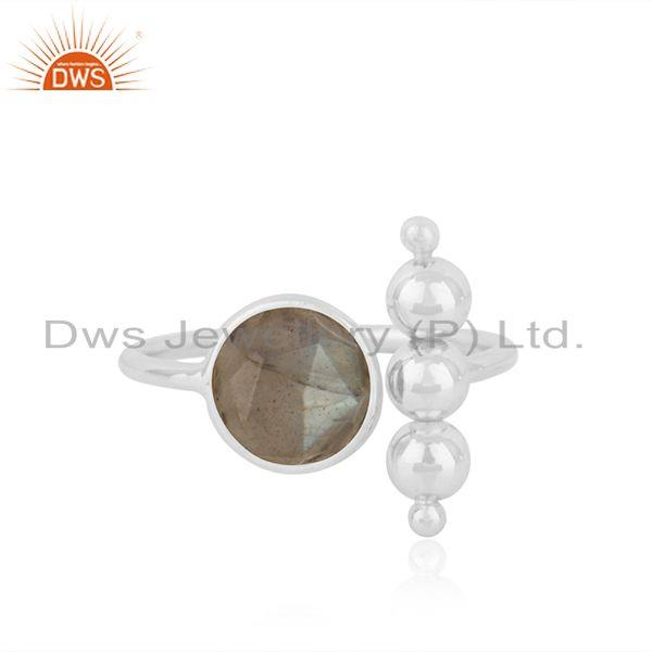 Labradorite Gemstone Fine Sterling Silver Designer Ring Wholesale Supplier