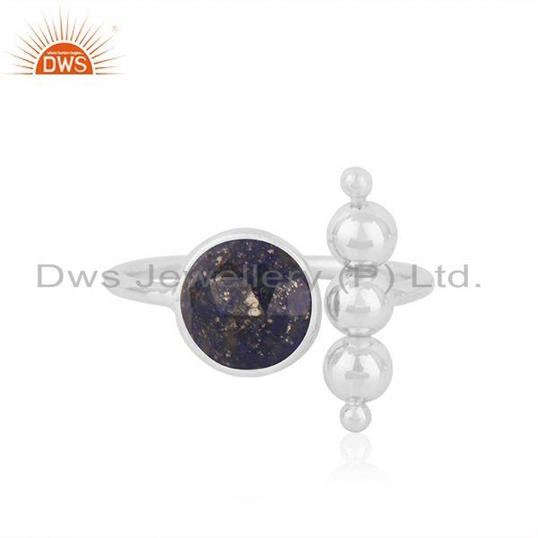 Lapis Lauzuli Gemstone 925 Fine Silver Designer Ring Jewelry Wholesale Supplier