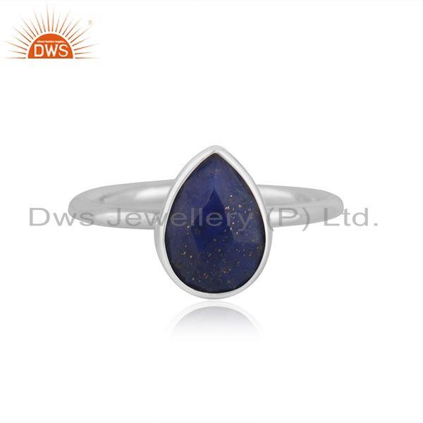 Fine Sterling Silver Handmade Lapis Lazuli Gemstone Ring Wholesale Suppliers