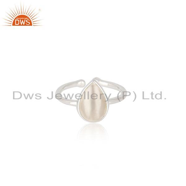 Natural White Pearl Fine Sterling Silver Ring Manufacturer in Jaipur