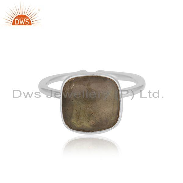 Black Onyx Gemstone 92.5 Sterling Fine Silver Ring Manufacturer INdia