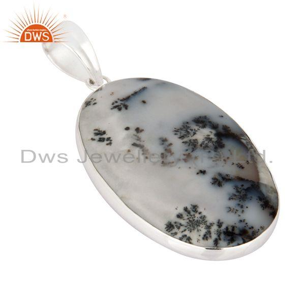 Wholesale Natural Dendritic Opal Gemstone 100% Genuine 925 Sterling Silver Pendant
