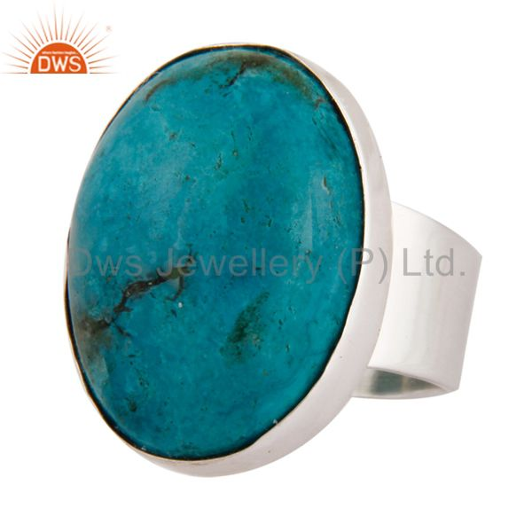 Supplier of Natural Matrix Turquoise Gemstone Ring Made In Solid 925 Sterling Silver Jewelry