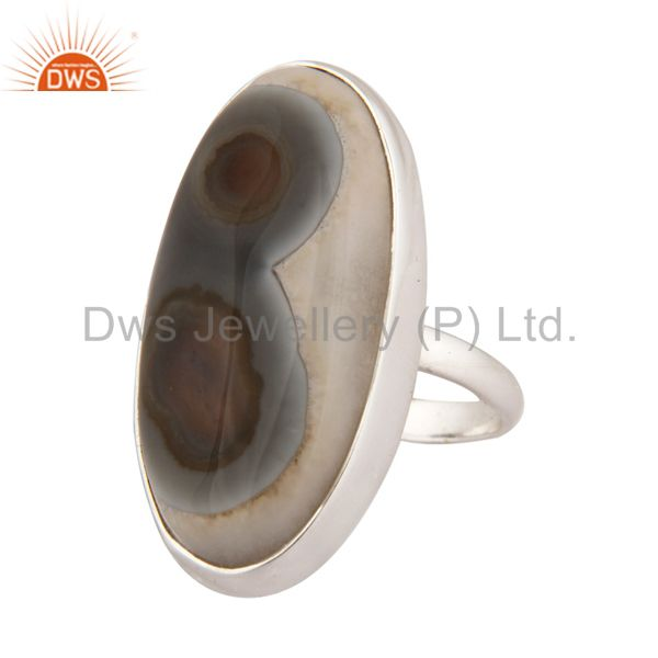 Manufacturer of 925 Sterling Silver Solar Quartz Gemstone Ring Handmade Artisan Jewelry