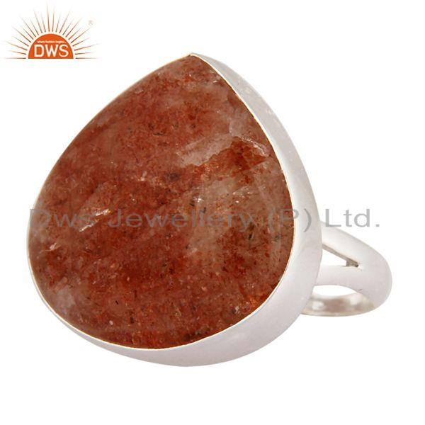 Supplier of Indian Handcrafted 925 Sterling Silver Genuine Sunstone Gemstone Ring