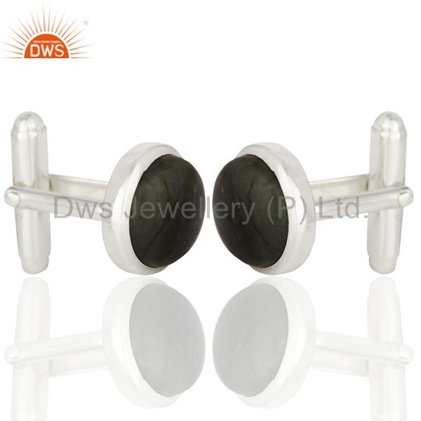 Manufacturer of Labrodorite Sterling Silver Cufflinks Mens Jewelry