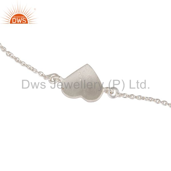 Indian Manufacturer of 925 Sterling Silver Heart Charms Link Charms Bracelet With Lobster Lock