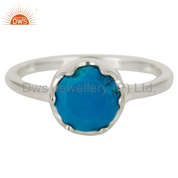 Wholesale Handmade Natural Turquoise Gemstone 925 Sterling Silver Ring