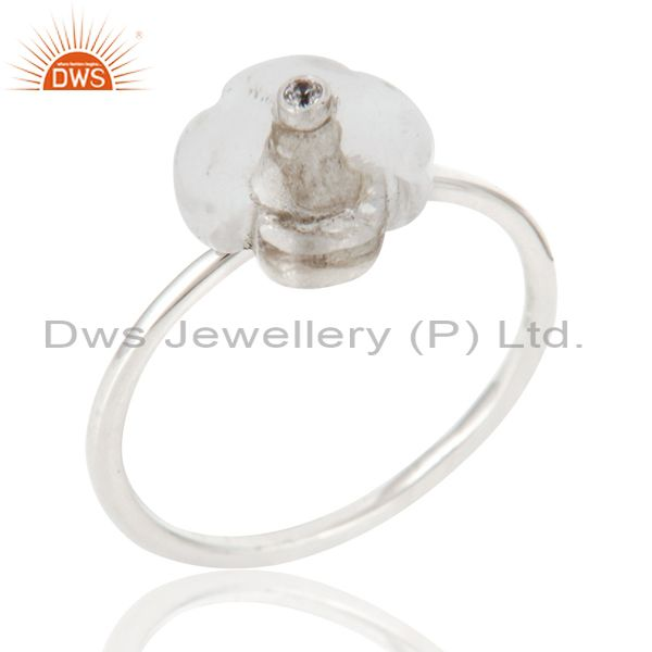 Supplier of 925 Sterling Silver Crystal Quartz & White Zirconia Stackble Ring