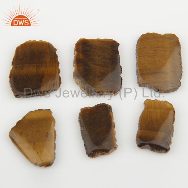 Supplier of Yellow Tiger Eye Connectors 14K Yellow Gold Plated Brass Fashion Jewelry