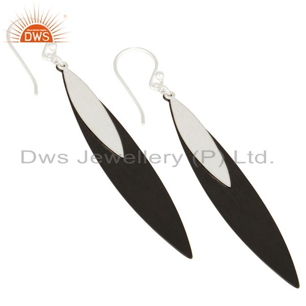 Manufacturer of Mind Blowing Solid 925 Sterling Silver Handmade Simple Design Drops Earrings