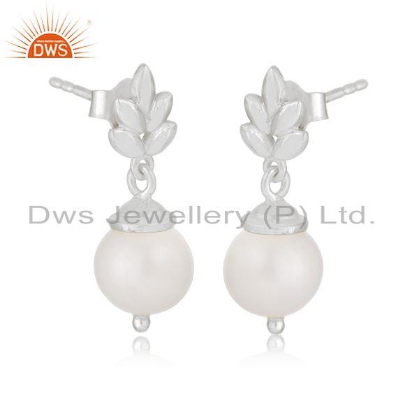 Indian Supplier of Customized Sterling Fine 925 Silver South Sea Pearl Girls Earrings