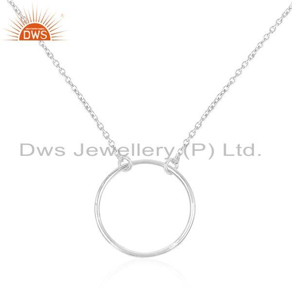 Indian Manufacturer of Handmade Fine Sterling Silver Round Circle Chain Pendant Manufacturer