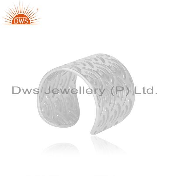 Indian Supplier of Filigree Design 925 Sterling Fine Plain Silver Rings Manufacturers