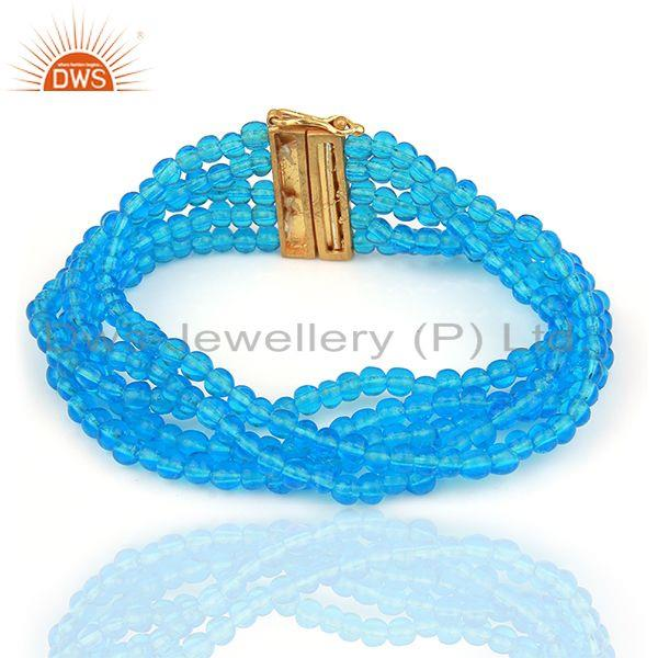 Glass Blue Topaz Bracelet Manufacturer