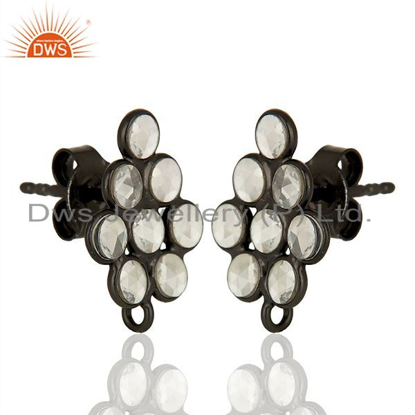 Wholesale 925 Sterling Silver Zircon Gemstone Designer Womens Earrings Supplier