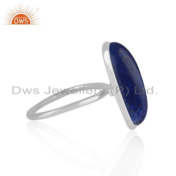 Wholesale Lapis Lazuli Gemstone Handmade Fine Sterling Silver Ring Manufacturer