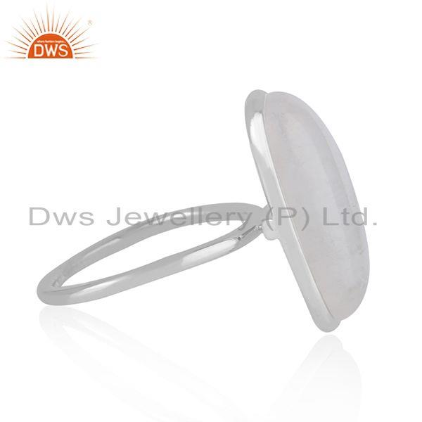 Manufacturer of Natural Rainbow Moonstone Fine Sterling Silver Handmade Ring Supplier