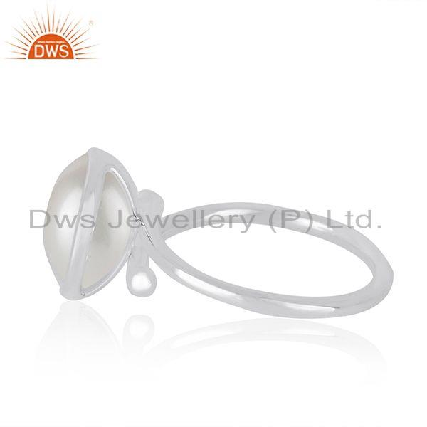 Supplier of Natural Pearl Gemstone Handmade Fine Sterling Silver Ring Supplier