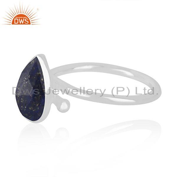 Wholesale Natural Lapis Lazuli Gemstone Handmade Fine Sterling Silver Ring