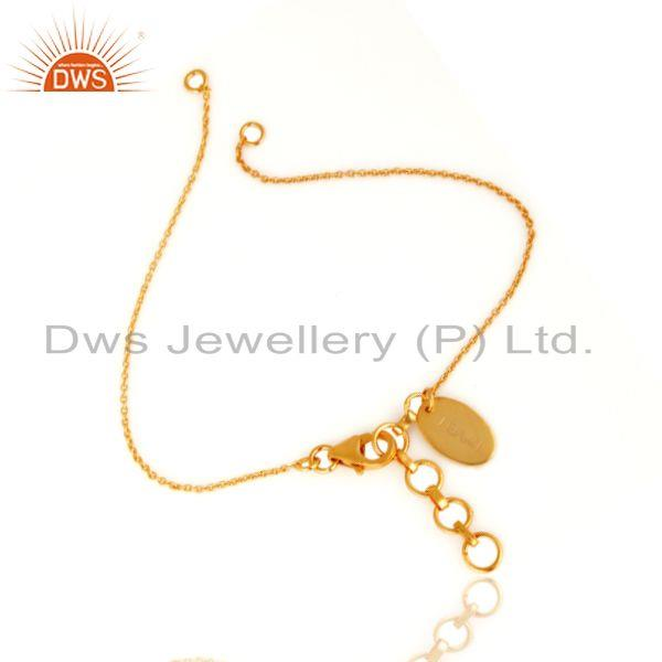 Exporter 18K Yellow Gold Plated Sterling Silver Link Chain Jewelry