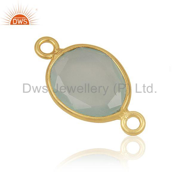 Exporter Genuine Gemstone 925 Silver Gold Plated Connector Jewelry Findings Manufacturer