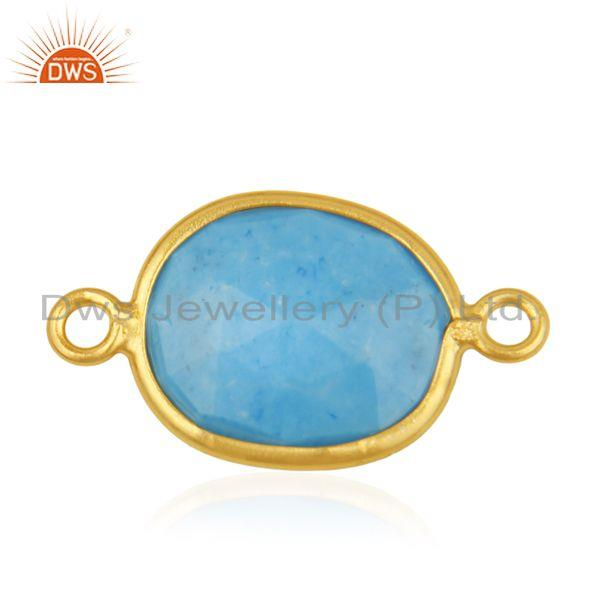 Exporter Turquoise Gemstone 925 Silver Gold Plated Connectors Manufacturer from India