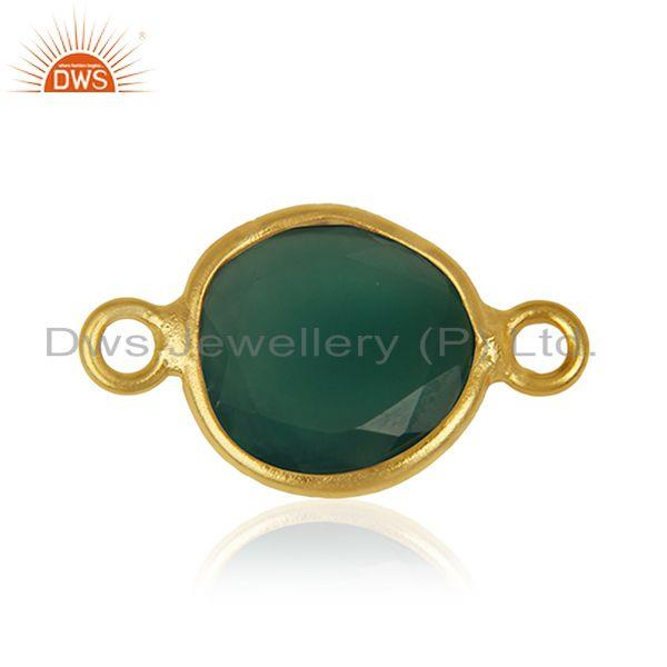 Exporter Green Onyx Gemstone Silver Customized Connectors Manufacturer from India