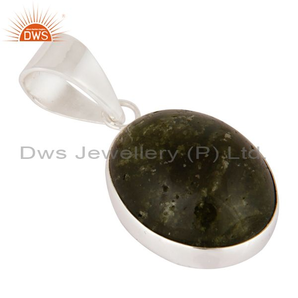 Exporter Handmade Natural Vasonite Gemstone 925 Sterling Silver Pendant Jewelry