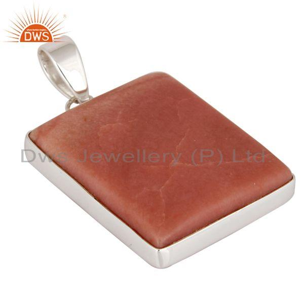 Exporter Natural Pink Opal Gemstone High Quality 925 Sterling Silver Handmade Pendant