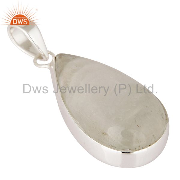 Exporter Natural Rainbow Moonstone Genuine Sterling Silver Handmade Pendant Jewelry