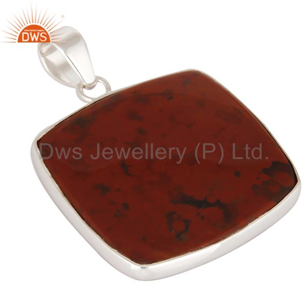 Exporter Handmade Solid 925 Sterling Silver Pendant With Natural Bloodstone Jewelry