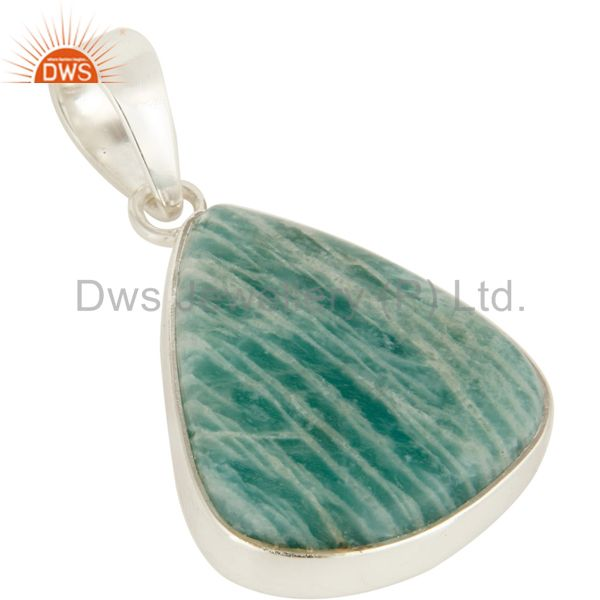 Exporter 925 Sterling Silver Amazonite Gemstone Sterling Silver Pendant