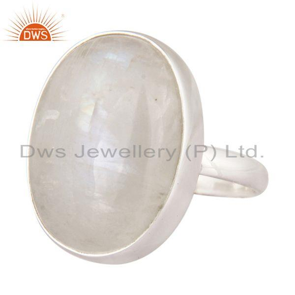 Exporter Natural Rainbow Moonstone Ring Made In Solid 925 Sterling Silver Jewelry