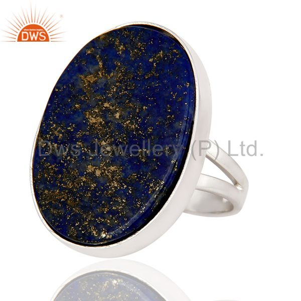 Exporter Handmade Sterling Silver Lapis Lazuli Gemstone Statement Ring Jewelry