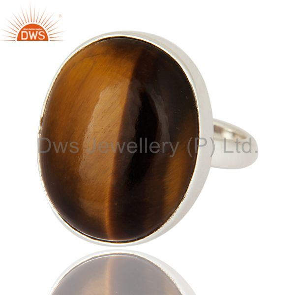 Exporter Tigereye Artisan Ring Wholesale Sterling Silver Jewelry