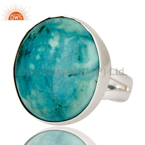 Exporter Natural Turquoise Gemstone 925 Sterling Silver Handmade Ring