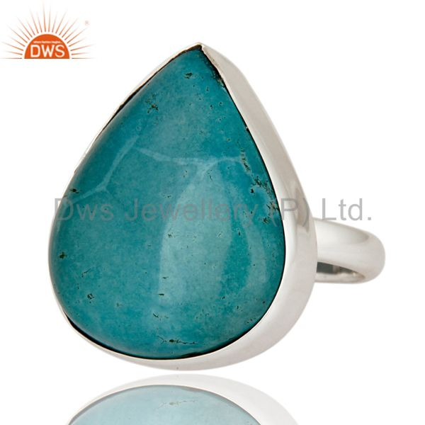 Exporter Indian Artisan Made Solid 925 Sterling Silver Turquoise Gemstone Ring