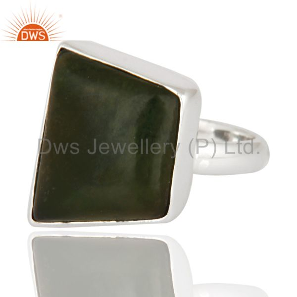 Exporter Natural Semi-precious Stone Vasonite 925 Sterling Silver Statement Ring